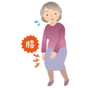 シニア女性 膝の痛み