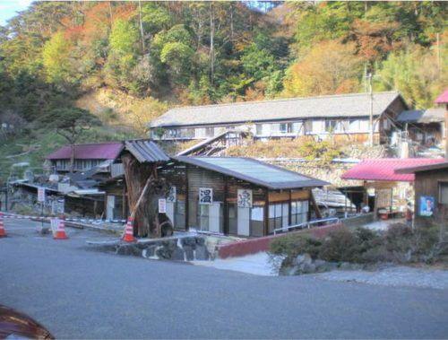新湯温泉秋の風景